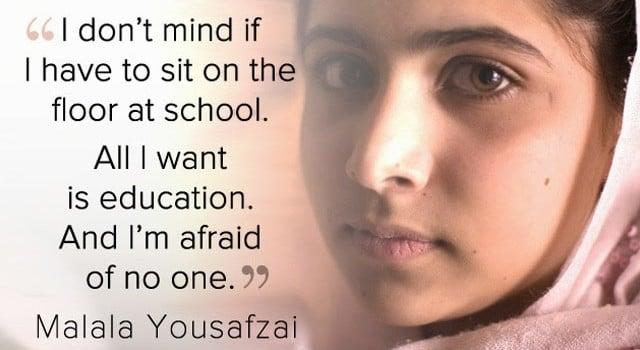 Malala Yousafzai - Education