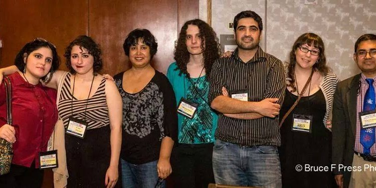 Me and some of my ex-Muslim community during the Women in Secularism con in DC this past weekend. Credit to Bruce F Press Photography: http://www.brucefpressphotography.com/
