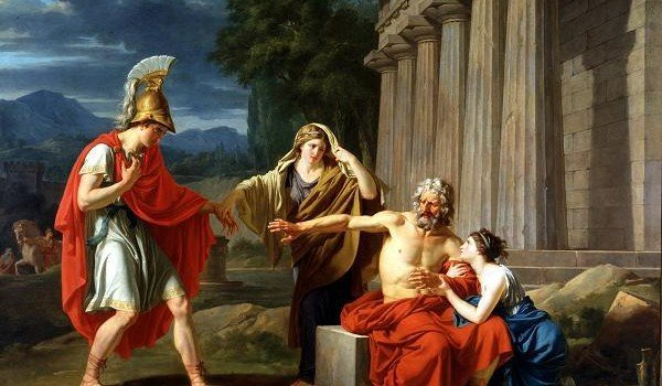 Painting: Oedipus at Colonus, by Jean-Antoine-Théodore Giroust. Dallas Museum of Art