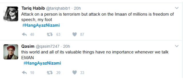 Twitter Attack on Ayaz Nizami